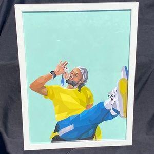 'Patty Mills ' - Olympic Gold Medal Framed NBA Art Print